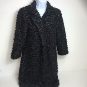 Donna Salyers fabulous furs open sweater jacket